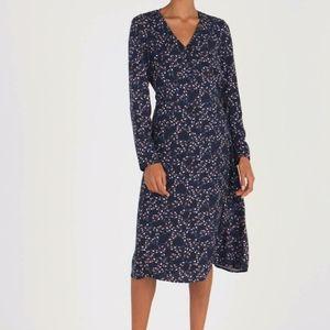 Esprit Animal Print Midi Wrap Dress